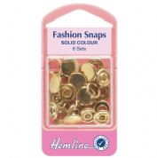 Hemline Gold Top Fashion Snaps - 11mm